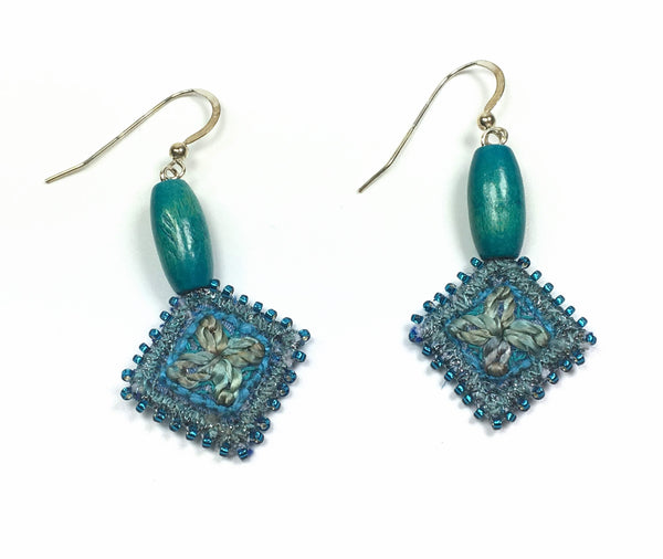Sea blue drop earrings