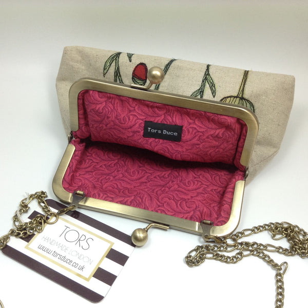 Lining of the frame purse clutch and shoulder bag