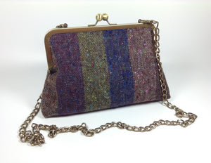 Tweed wool clutch or shoulder bag