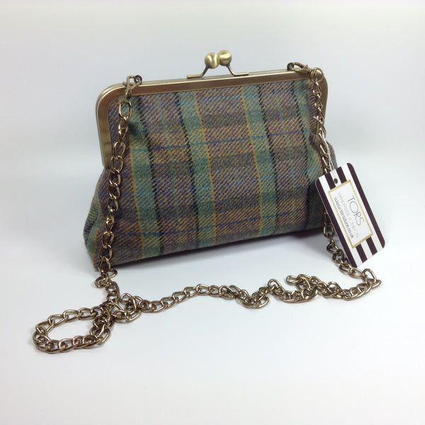 Tweed wool clutch or shoulder bag by Tors Duce