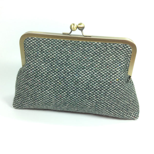 8 inch frame purse wool bag