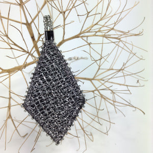 Black & silver diamond pendant