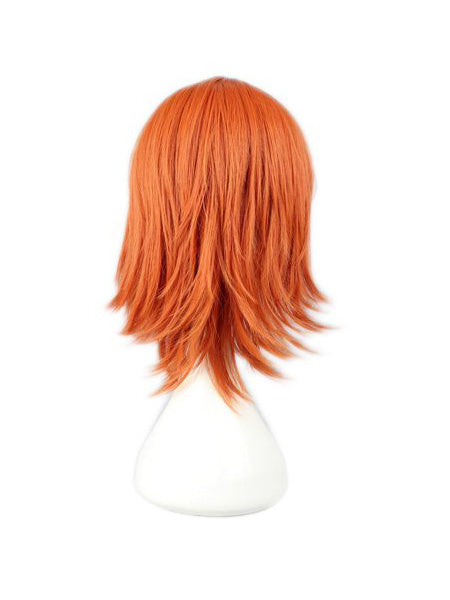 Orange Short Anime Costume Wig
