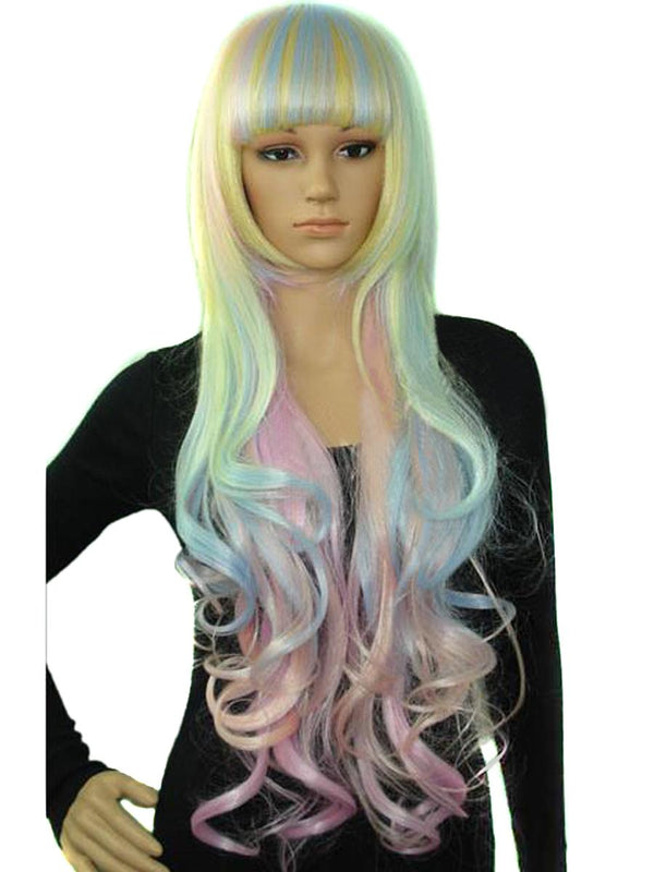 80cm Wavy Costume Wig in Blunt-Cut Bang