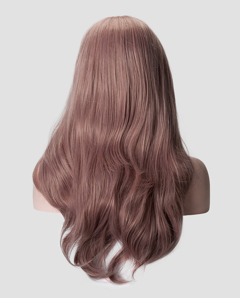 "18""  Blush Wavy Synthetic Lace Front Wig"