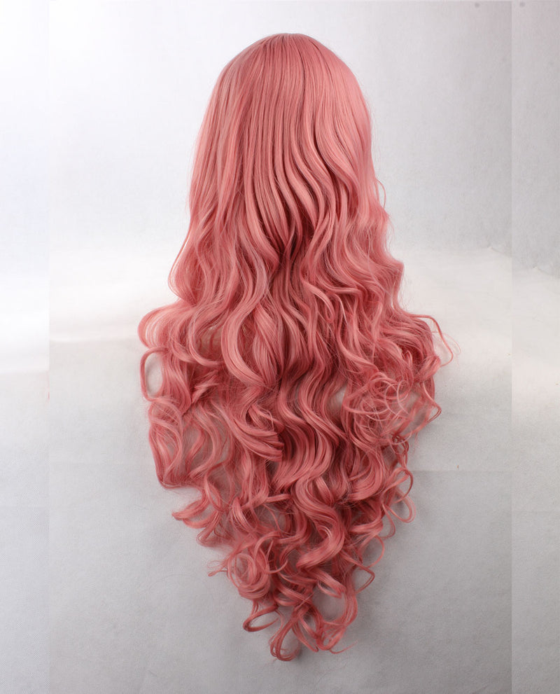 Wavy Synthetic Wig - Pink