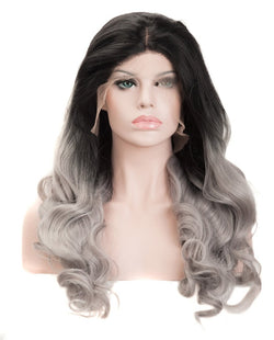 "Gray Mix Ombre 22"" Body Wave Wig"