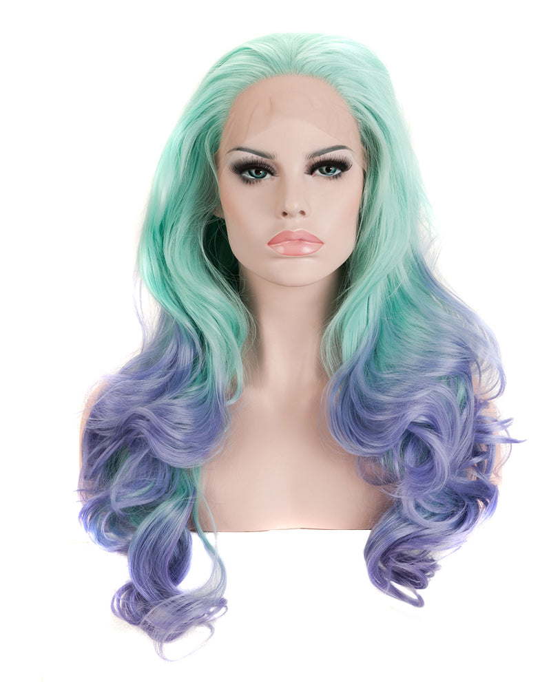 "Light Blue 22"" Ombre Body Wave Wig"