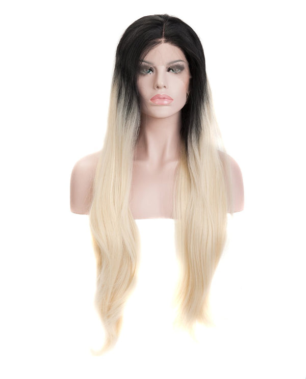 "Black Blonde Ombre 22"" Straight Wig"