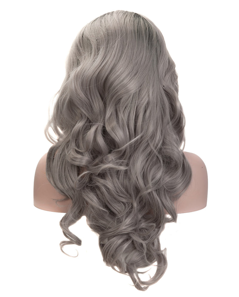 "Gray Mix Ombre 22"" Wavy Wig"