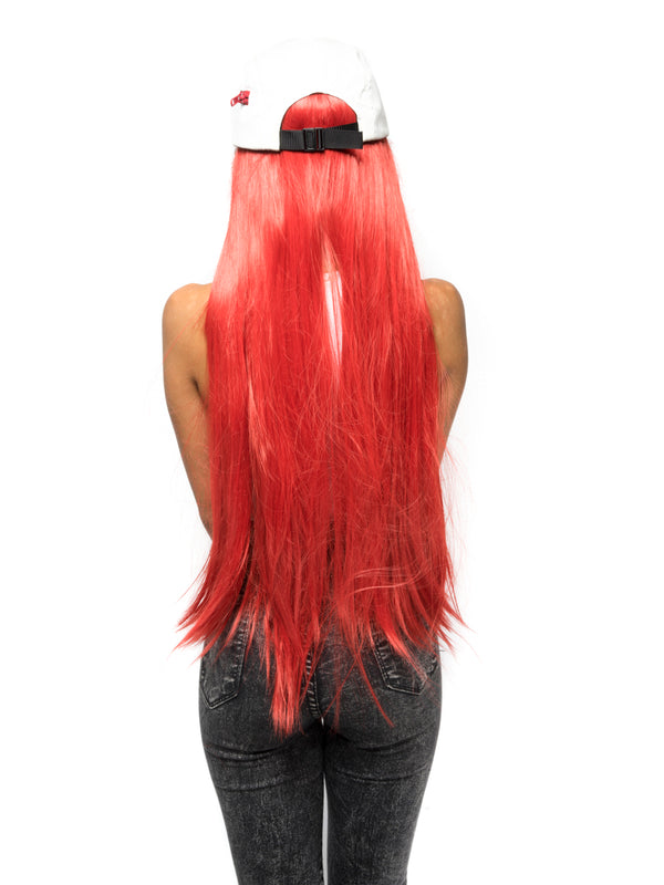 Red Straight Costume Wig