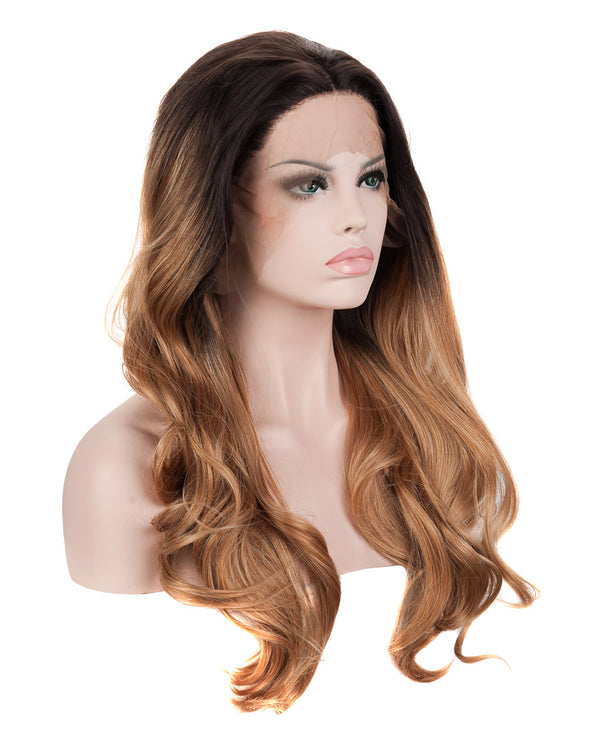 Dark Brown Ombre 20¡± Wavy Wig