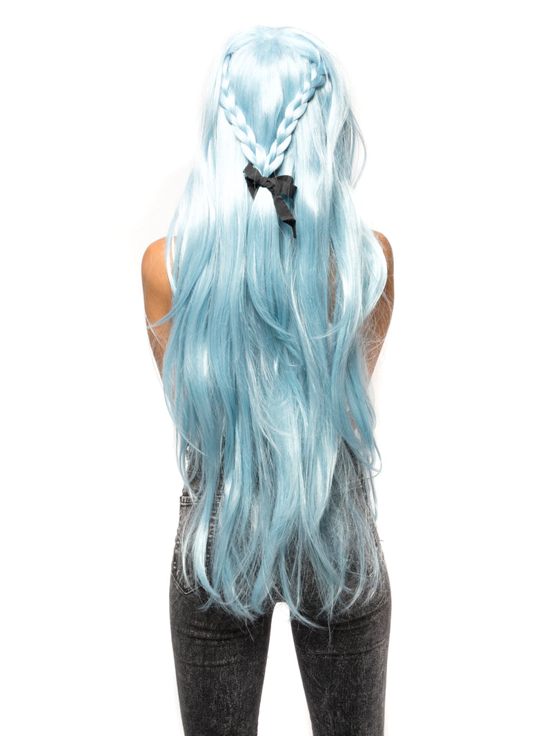Pastel Blue Straight Costume Wig