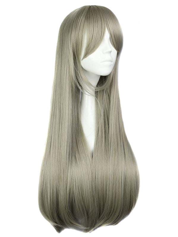 Gray Straight Costume Wig