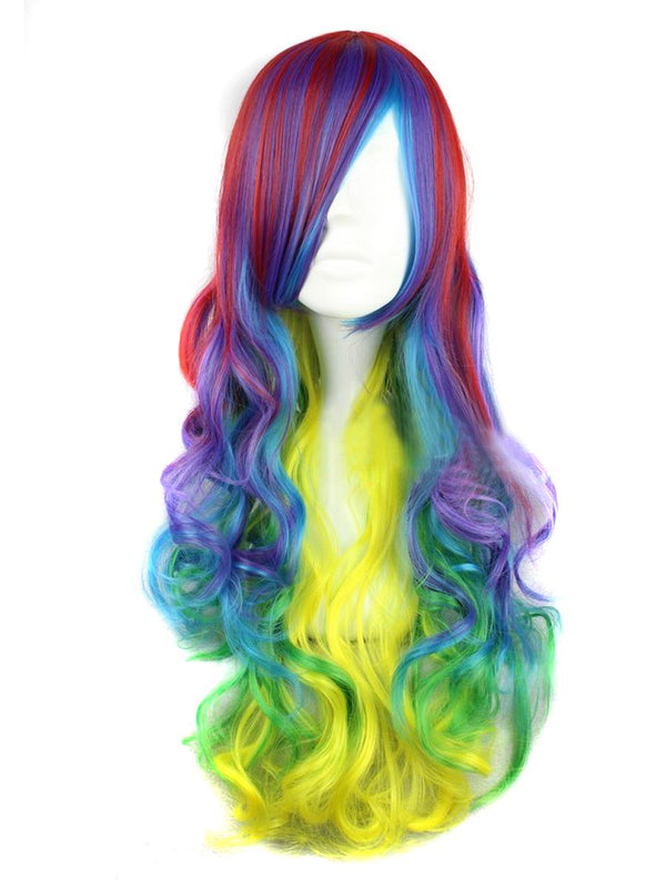 Rainbow Loose Curl Costume Wig