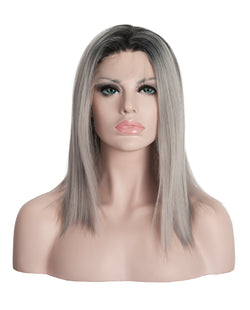 "Gray Mix Ombre 12""  Straight Wig"