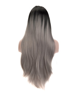 Gray Mix Ombre 24¡± Straight Wig