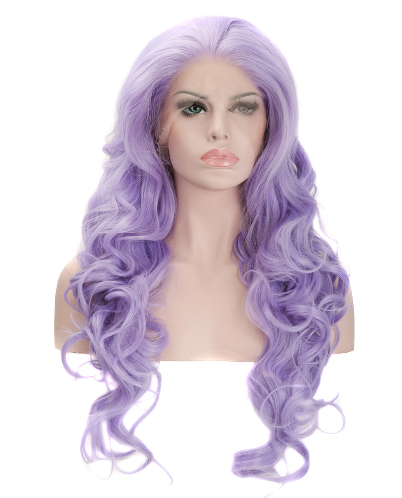 "Light Purple 22"" Wavy Wig"