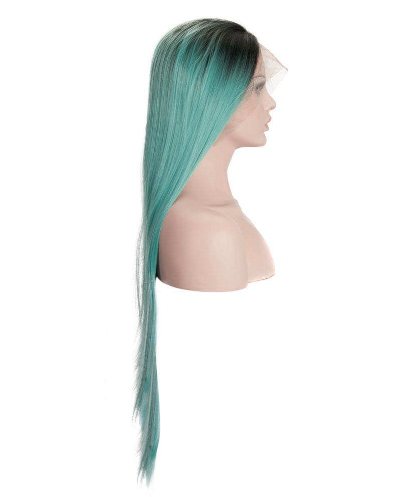 "24"" Medium Blue Ombre Wig"