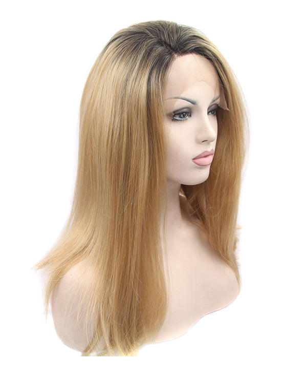 "Dark Brown Ombre 18"" Straight Wig"