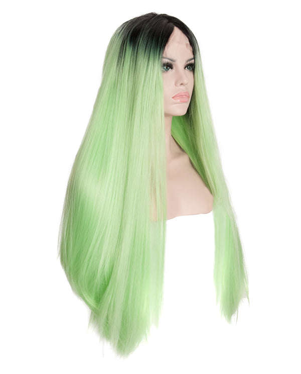 "Pastel Green Ombre 24"" Straight Wig"