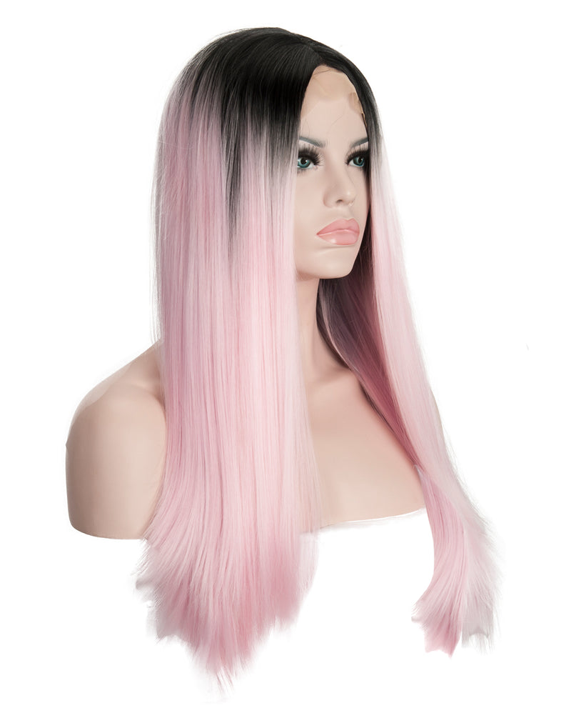 "Baby Pink Ombre 22"" Straight Wig"
