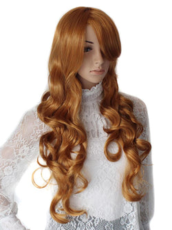 Strawberry Blonde Loose Curl Costume Wig