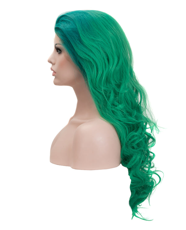 "Blue-Green Ombre 22"" Body Wave Wig"