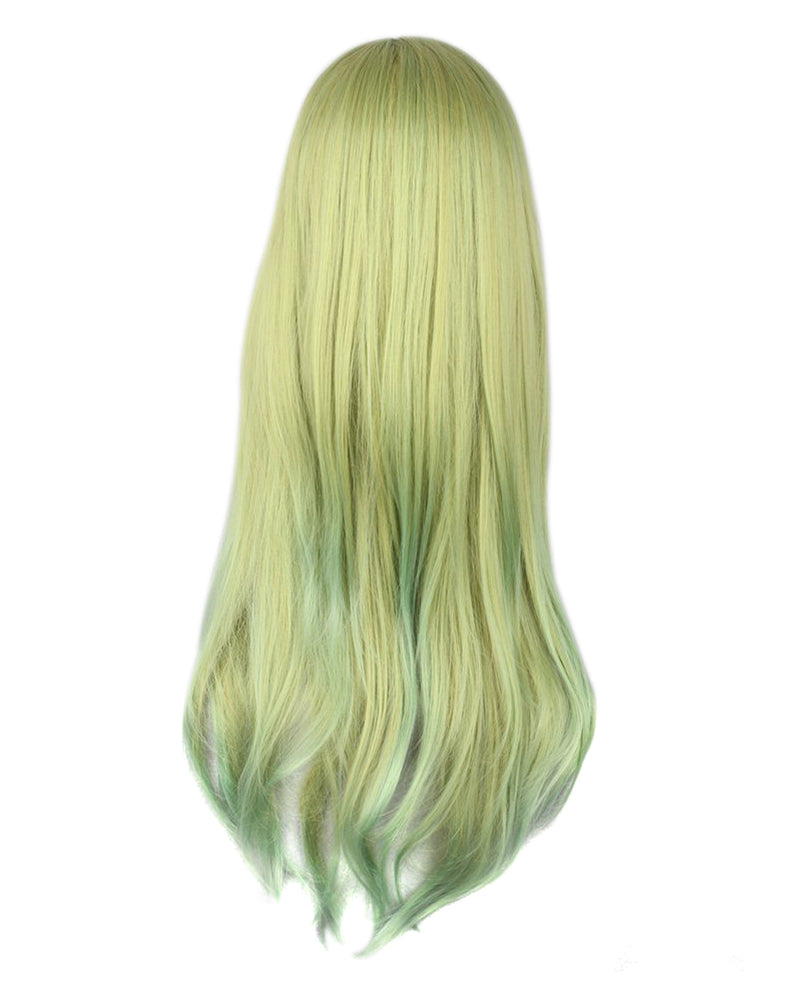 Long Straight Green Ombre Wig