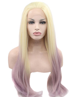 "Platinum Blonde Ombre 20"" Straight Wig"