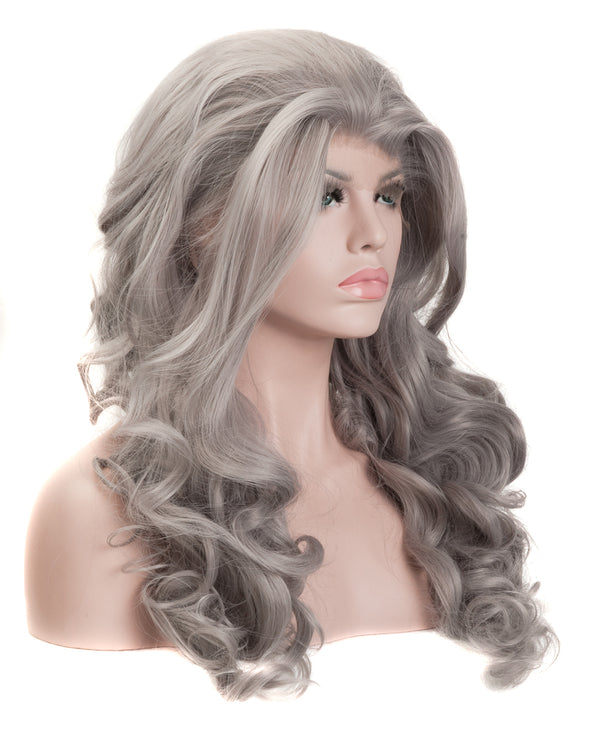 "Light Gray 22"" Body Wave Wig"