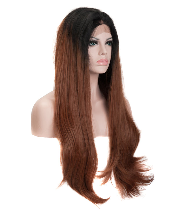 "Natural Black Ombre 22"" Straight Wig"