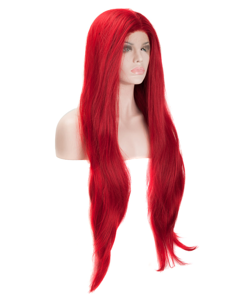 "Red 24"" Straight Wig"