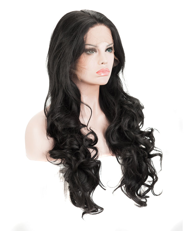 "Natural Black 24"" Body Wave Wig"