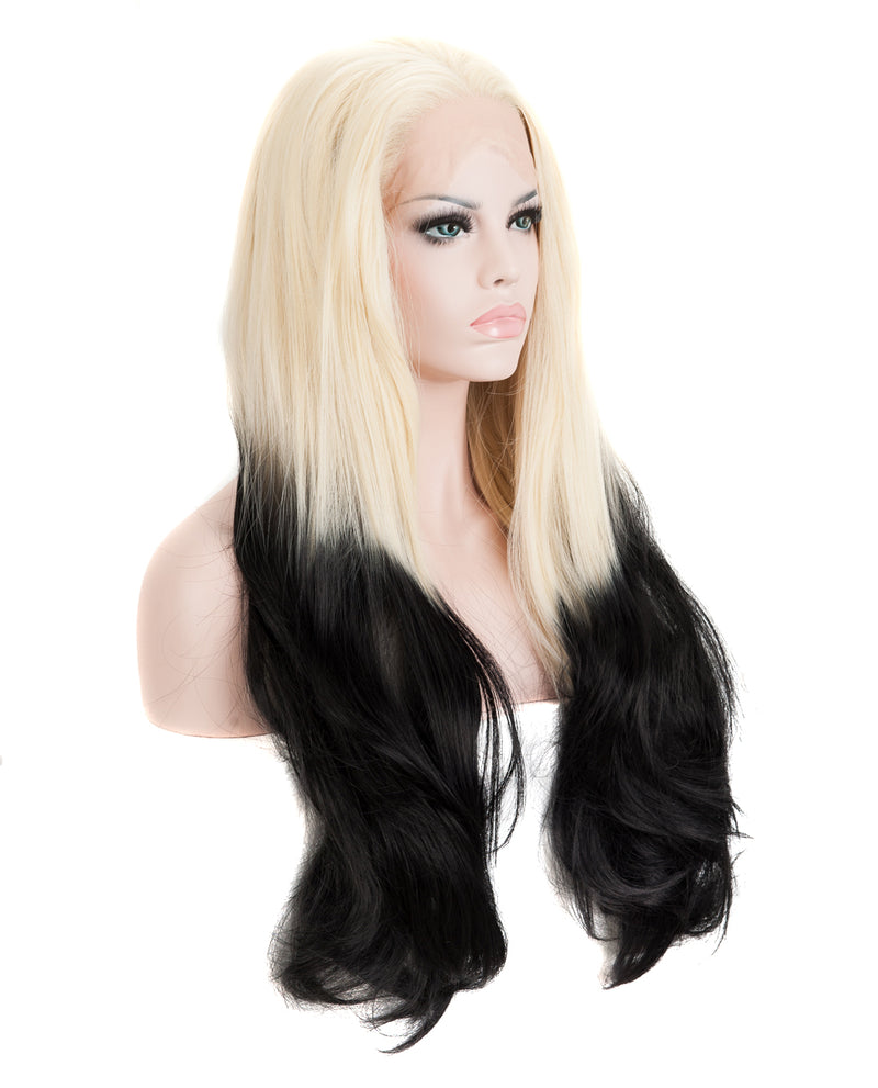 "Blonde/Black Ombre 24"" Straight Wig"
