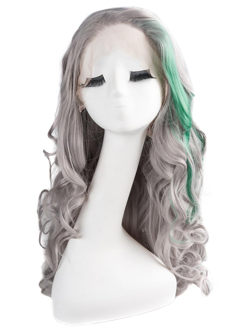 Gray Multi-Color Ombre 22¡± Wavy Wig