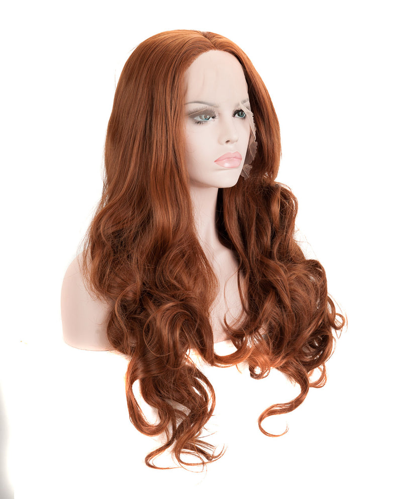 "Medium Chestnut Brown 22"" Body Wave Wig"