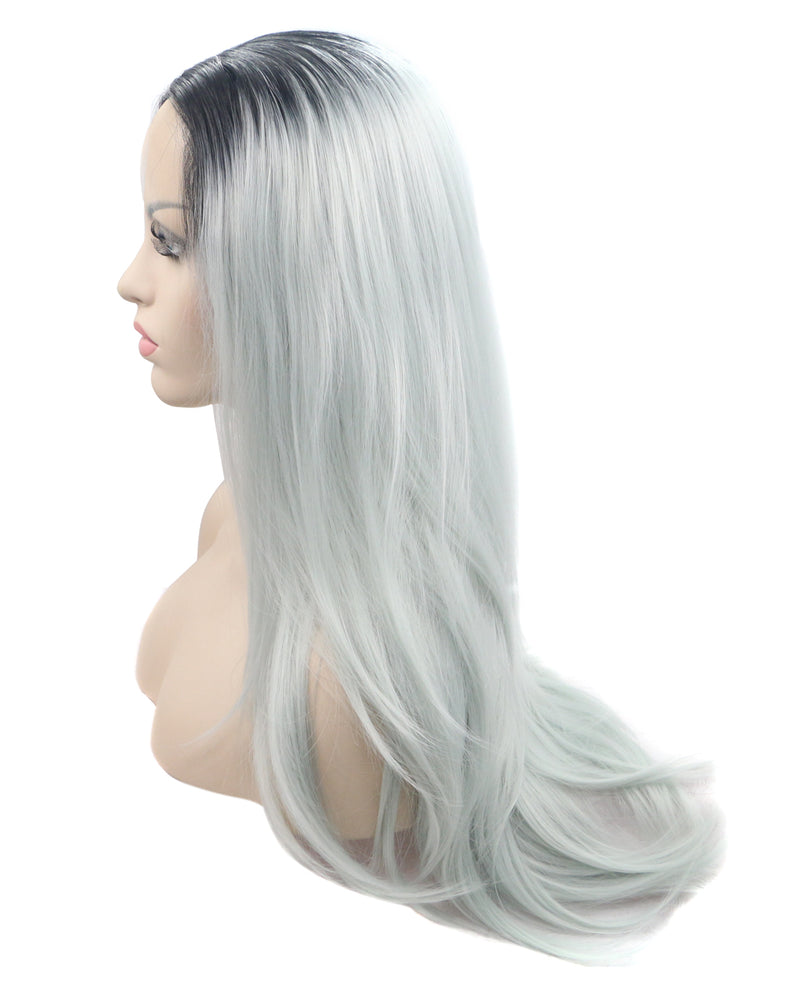 "Pastel Blue Ombre 22"" Straight Wig"