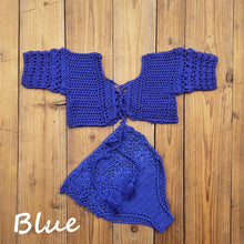 Load image into Gallery viewer, Purxi - Boho crochet 2 piece beach set