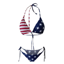 Load image into Gallery viewer, Purxi - American flag thong bikini
