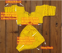 Load image into Gallery viewer, Boho crochet 2 piece beach set