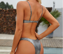 Load image into Gallery viewer, Purxi - Mermaid micro metallic bikini