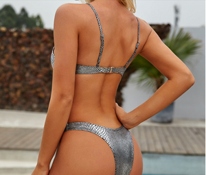 Purxi - Mermaid micro metallic bikini