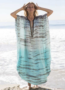 Purxi - Chiffon Leopard print beach dress