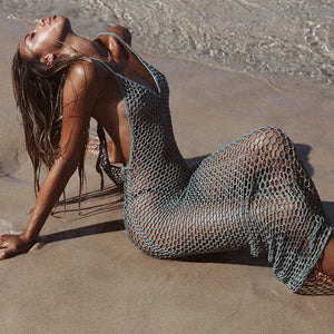 Purxi - Fishnet Beach Dress