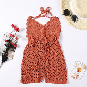 Purxi - Crochet romper with front tie