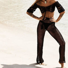 Load image into Gallery viewer, Purxi - Crochet Mesh Top and Leggings Beach Wear