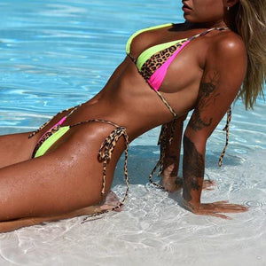 Frisky and Fierce Neon String bikini - Bikini