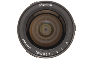 🔴NEAR MINT+++🔴 MAMIYA G 50MM F/4 L MF LENS FOR NEW MAMIYA 6 SIX MF FROM JAPAN