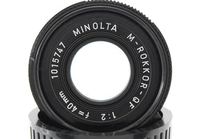 【NEAR MINT+++】MINOLTA M ROKKOR QF 40mm f/2 FOR CLE, LEICA CL,LEITZ CL FROM JAPAN